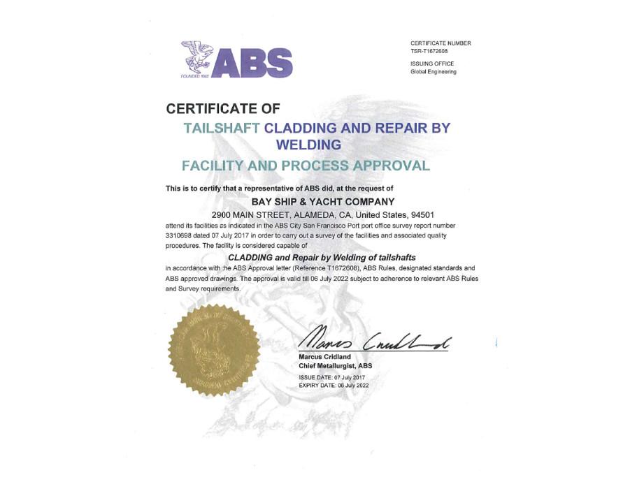 Certifications | Bay Machine & Fabrication